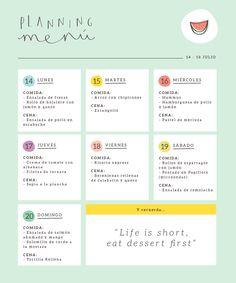 Menú semanal de verano (II) | http://www.conbotasdeagua.com/menu-semanal-de-verano/