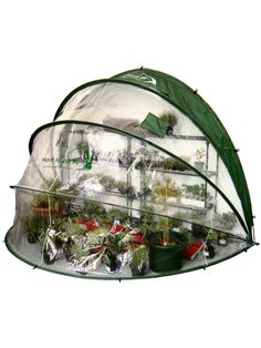 Horti Hood Pop-Up Greenhouse 90 | Patio Greenhouse ~ I think I could make something like this for the door.