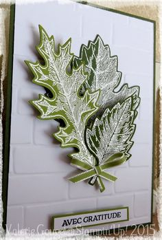 White embossed leaves