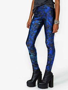 calza calaveras azul