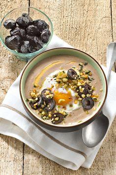 Soupe de panais aux olives noires #recette #soupe