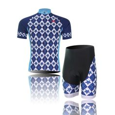 (Type Set size L) Jersey Cycling Sleeve Set Tights Shorts pad Cool Tops  Quick Comfortable Men perspiration Shirts soft Dry Short Breathable  Sportswear -- To ... f1322ba62
