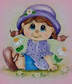 Resultado de imagem para pintura em tecido de bonecas