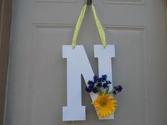 Door Decor Front Door Sign Door Hanger Monogrammed Gifts Decorative Letters Wedding Present