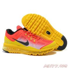 wholesale dealer 01602 b6d5d New Color Matching Nike Air Max 2013 Men s Running Shoes Red Yellow - Men s Air  Max 2013 Running Shoes