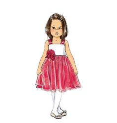 B5843, Toddlers'/Children's Dress  Butterick. Does anyone in your family sew?
