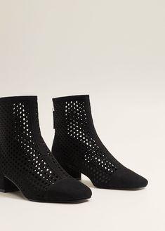 84e8f6538c6 Μποτάκι κεντητό φερμουάρ - Γυναίκα. MangaΜπότες AnkleΠαπούτσιαΣανδάλια Τακούνια