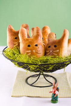 Brioche easter Bunnies.. #Easter #holidays #recipes