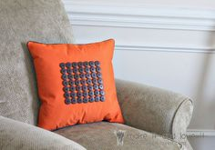 Decorate My Home, Part 20 - Button/Piping Pillow Cover | Make It and Love It