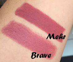 MAC Lipstick - Brave vs. Mehr