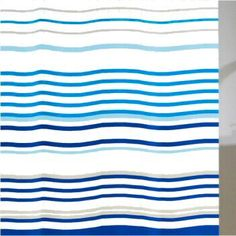 Check out our entire fabric curtain collection. Fabric Shower Curtains, Curtain Fabric, Contemporary Shower, Blue Fabric, Aqua Blue, Projects, Bathroom, Check, Collection