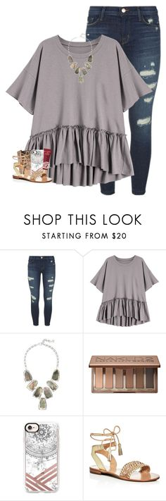 """it's holding on, though the road's long"" by oliviajordyn ❤ liked on Polyvore featuring J Brand, Kendra Scott, Urban Decay, Casetify, Too Faced Cosmetics, Jack Rogers and Danielle Stevens"