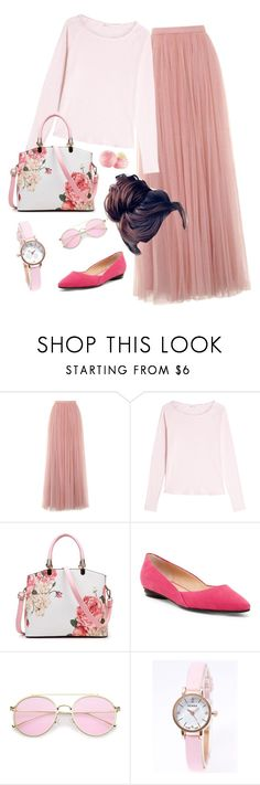 """""""Modestly Pink- Apostolic Fashion"""" by daryl-denelle ❤ liked on Polyvore featuring Little Mistress, American Vintage and Aquatalia by Marvin K."""