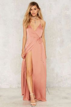 Running Wraps Plunging Dress | Shop Clothes at Nasty Gal!