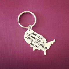 Just Like My Country Young Scrappy & Hungry USA Key Chain Inspired By Hamilton Broadway Musical