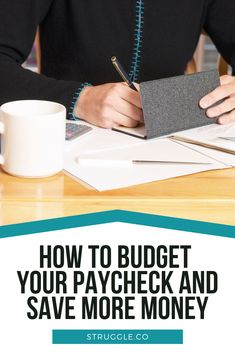 How to Budget Your Paycheck and Save More Money Earn More Money, Ways To Save Money, Money Tips, Money Saving Tips, Money Hacks, Living On A Budget, Frugal Living, Saving For College, Making A Budget