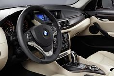 2013 BMW X1 - white seats and black foot wells