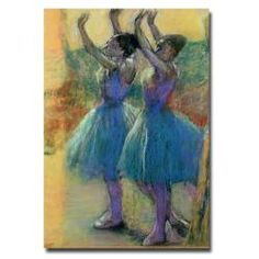 Edgar Degas 'Two Blue Dancers' Modern Canvas Art | Overstock.com Shopping - Top Rated Trademark Fine Art Canvas