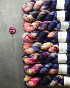 Navy Merino Wool Poppy Flower Soft Luxurious Soft