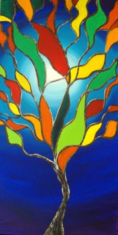Stained Glass Tree 2 by *Inkeriart