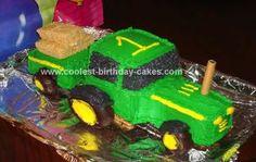 Homemade Tractor Cake