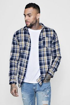 WM /& MW Hoodie Shirt for Men Long Sleeve Slim Fit Pocket Hooded Button Shirt Casual Plaid Blouse Tops