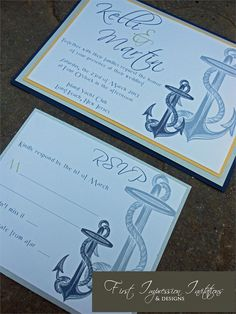 Nautical Anchor Invitation