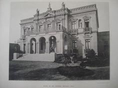 Exterior: House of Mr. McKenna, Santiago, Chile, 1890. Gelatine
