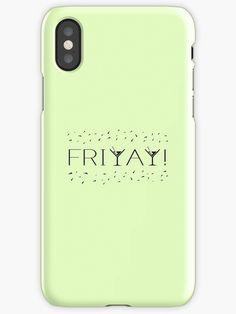 Friday Friyay! Martini Cocktail Weekend Fun! Phone case / skin.