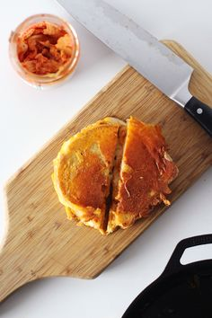 This is genius and will be tried at the A&A B&B very soon! The Grilled Kimcheese.