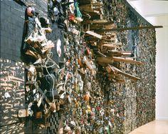 "Leonardo Drew, ""Number 77"", 2000. Rust, wood, misc. objects."