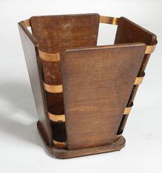 Lot : Jacques Emile RUHLMANN (1879-1933) - Corbeille à papier en bois et cuivre.. | Dans la vente Art Décoratifs du XXème Siècle à Tradart Deauville France