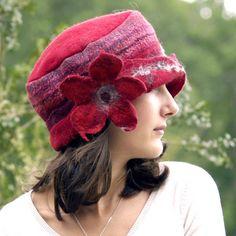 felted wool hat handmade with merino wool Sammy by jannio on Etsy, $88.00