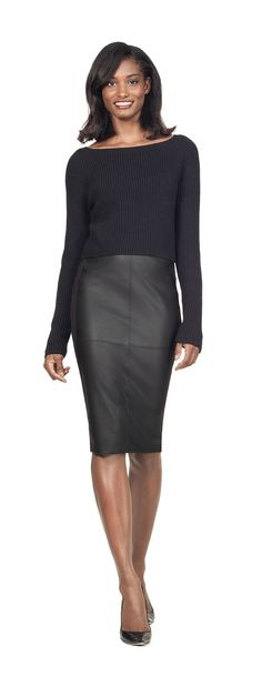 High Waist Faux Leather pencil skirt... Ordered hope I like it on!
