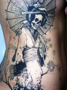 Tatuaje de Geisha calavera - Tattoos and Tattoo Designs
