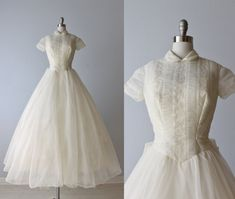 1950s Wedding Dress / 1950s Lace Wedding by TheVintageMistress, $424.00