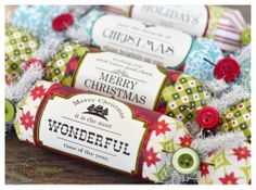 Christmas DIY crackers using Unity Stamp Company stamps.