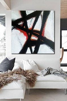 """Price from: $180 Large Original Abstract Painting On Canvas, abstract living room TG061 Square painting Size from: 22"""" x 22""""   handmade Acrylic from Studio Trend Gallery#abstractpainting #largecanvasart #largeabstractart #originalartwork #originalart #abstractcanvas #texturepainting #homedecorart  #roomdecor #roomdesign #livingroomdecor #wallart #wallartdecor #wallartprint Home Wall Art, Wall Art Decor, Wall Art Prints, Wall Murals, Large Canvas Art, Abstract Canvas, Abstract Paintings, Industrial Wall Art, Living Room Art"""