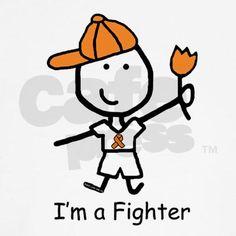 Orange Ribbon - Fighter Boy T-Shirt on CafePress.com