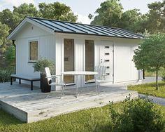 JABO attefallshus Flex 18,4 I grundsatsen ingår 16 stycken väggmoduler. Dessa kan bytas ut mot valfritt antal fönster- och dörrmoduler. Välj till exempel två dörrmoduler och bygg till en extra innervägg - då får du ett utmärkt litet förråd. Beställ även isolersats, taksats, plåtsats, eller plåttak, så får du allt komplett levererat på samma gång.
