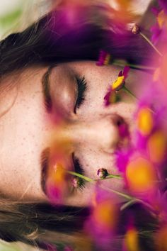 asleep | sleep | rest | death | flowers | floral | pink | peace | beauty | complete surrender