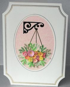 Quilled flower birthday card quilling hanging by PaperDaisyCards
