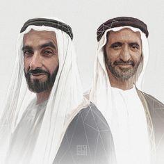 Los jeques: Zayed bin Sultan Al Nahyan y Rashid bin Saeed bin Maktoum Al Maktoum. Por: Ely Caluag (elygraf)
