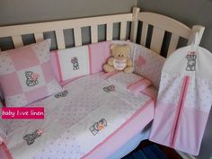 Tatty Teddy baby linen & accessories in shades of pink. Tatty Teddy, Crib Bedding, Girl Nursery, Baby Love, Decorative Items, Cribs, Toddler Bed, Room Ideas, Shades