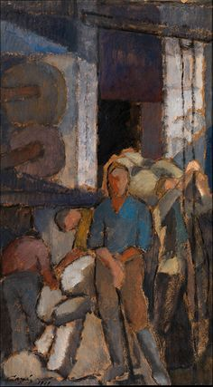 At the Factory by Alvar Cawén, 1919 Google Art Project, Drawing School, Art Society, Modern Artists, Museum Of Modern Art, Artist Painting, Art Google, Art Oil, Finland