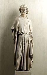 Sainte-Chapelle, apôtres Cl. 18666 Saint Jean Paris, 1243-1248 Calcaire lutétien sculpté avec traces de polychromie Saint Chapelle, Saint Jean, Sculpture, Paris, Saints, Religion, Age, Statue, Architecture