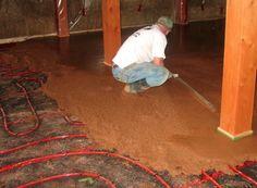 radiant earthen floor - Google Search Radiant Floor, Natural Building, Radiant Heat, Underfloor Heating, Earthship, Diy Flooring, Diy Home Improvement, Garden Projects, Interior And Exterior