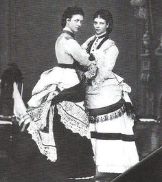Alexandra (later Queen of Great Britain) and Dagmar (later Empress of Russia, when they were still Princesses of Denmark