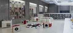 Galería de Biblioteca Pública en Labin / Ivana Žalac, Margita Grubiša, Igor Presečan i Damir Gamulin - 16 Kids Library, Library Books, Design Projects, Photo Wall, Public, City, Modern, Home Decor, Crowd