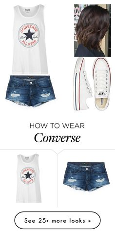 """Converse"" by loves-5sos on Polyvore featuring Converse and 3x1"